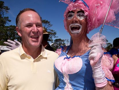 New Zealand Prime Minister John Key at the Big Gay Out.