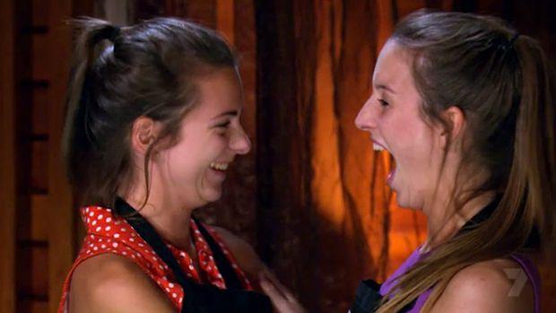 Thalia and Bianca react to their perfect scores.