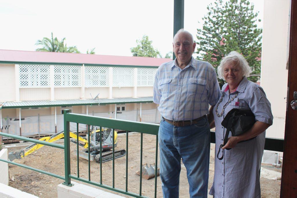 Max and Margaret Littleton at Rockhampton Girls Grammar School Photo Contributed