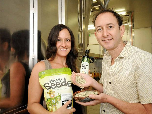 ECONOMIC BOOSTER: Tiffani Brennan, business development manager and Paul Benhaim CEO of Hemp Foods Australia.
