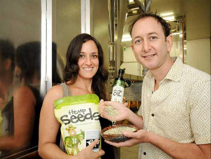 ECONOMIC BOOSTER: Tiffani Brennan, business development manager and Paul Benhaim CEO of Hemp Foods Australia.