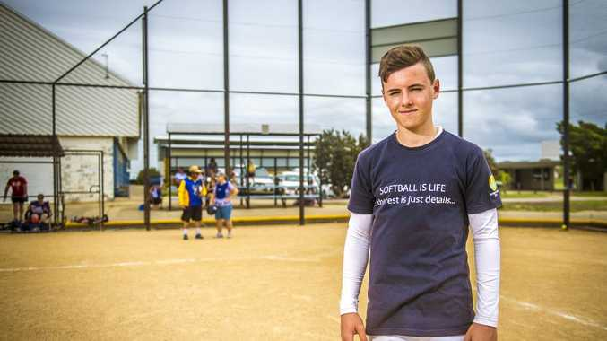 HUGE EFFORT: A fit 14-year-old Michael Ludkin has made the U17 national softball team.