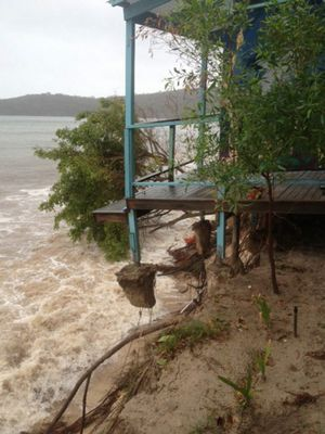 Putney Beach on Great Keppel Island has lost 500sq m of sand dune. Photo Contributed