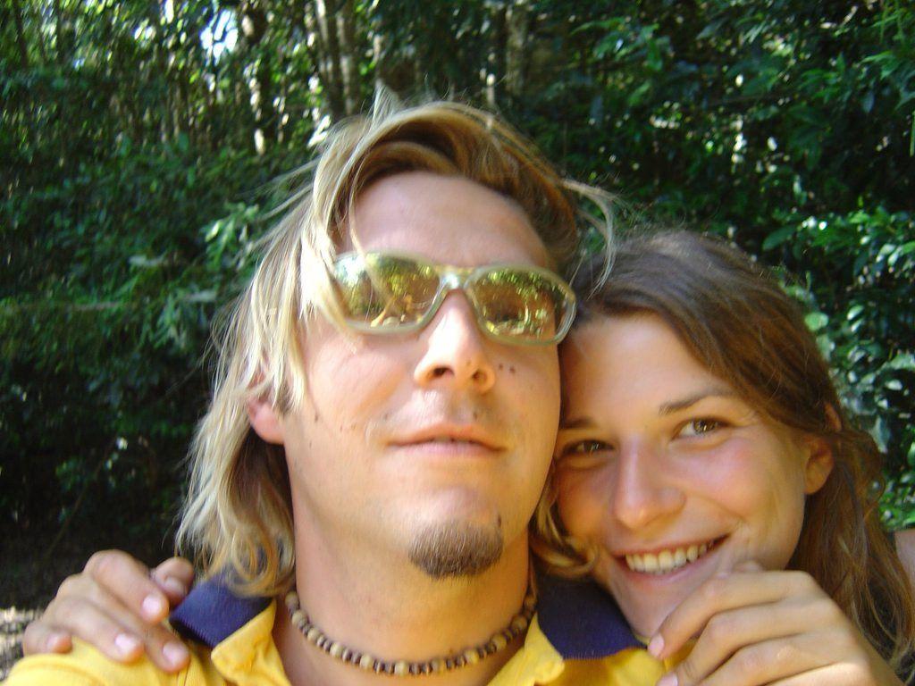 File photo Simone Strobel with Tobias Suckfuell.