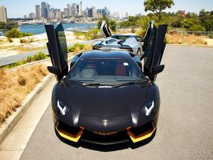 Absolutely awesome dynamic Lamborghini Aventador duo