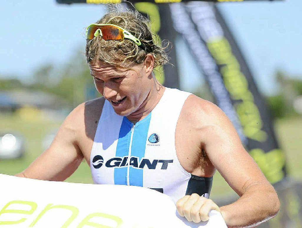 WINNER: Joey Lampe won the 2013 Yamba Triathlon. Photo JoJo Newby