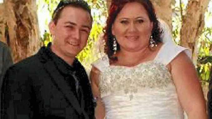 Daniel and Tisha White celebrate their wedding day.