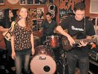 THE BAND: Amelia Kase with Stephanie Quinlan on bass, Logan Brewster on drums and James Gordon on guitar.