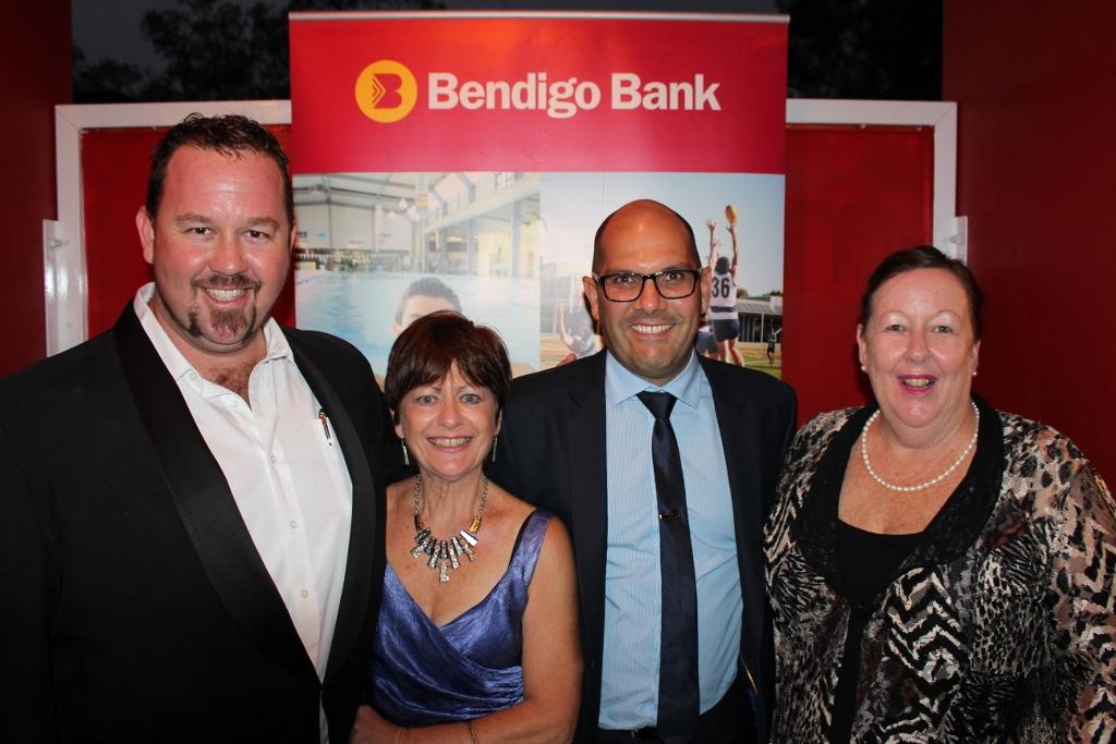 Sam Coward, Julia Loaney, Rob Chittick and Judy Blackall celebrate Bendigo Bank's new sponsorship of Sunshine Coast Theatre Alliance.