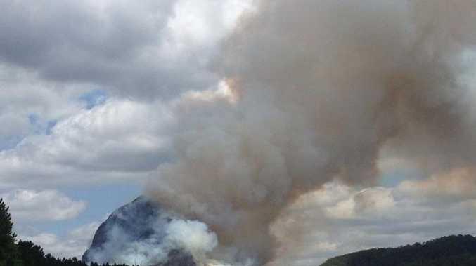 Controlled burn on Mt Tibrogargan.