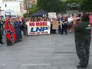 Back to Joh days: 400 in protest against Qld bikie laws