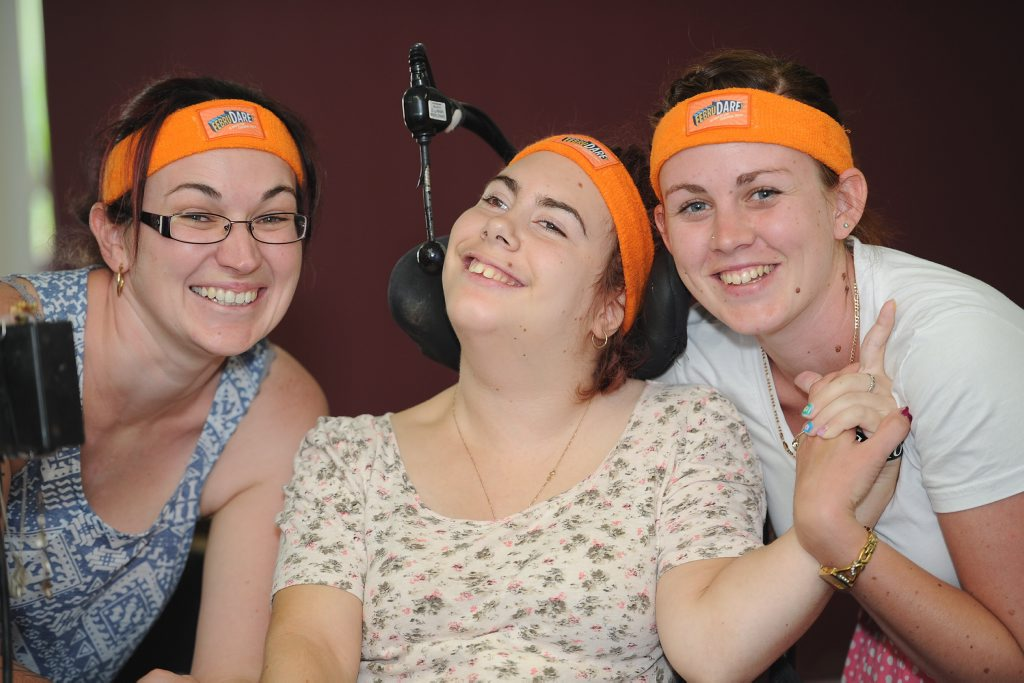 Sara Delhaas, Sarah-Anne Burton and Sarah Hawkins are raising money and awareness for the Cerebral Palsy League.