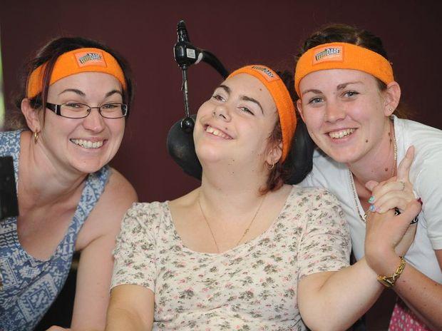 Sara Delhaas, Sarah-Anne Burton and Sarah Hawkins are raising money and awareness for the Cerebral Palsy League.