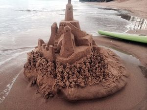 Search on for mystery sandcastle maker