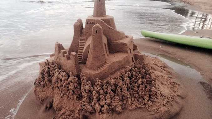 Do you know who made this sandcastle on the beach at Torquay?