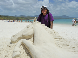 Sand sculpture draws crowds to Whitehaven