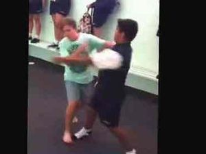 Another school fight video emerges after teen charged
