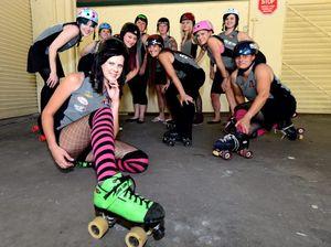 Rocky Roller Derby girls cruise for Bundaberg bruising