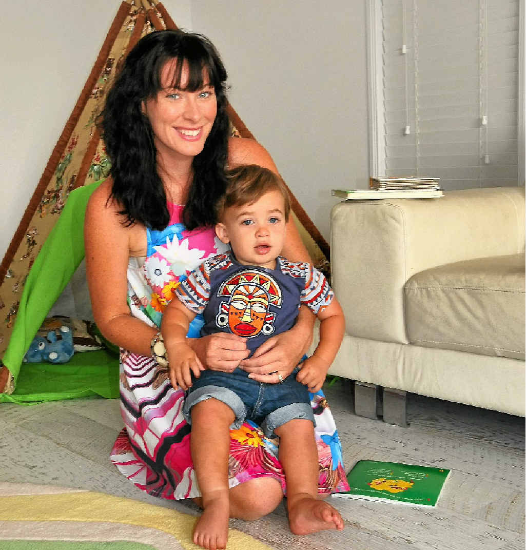 Mel Jaenke was relieved when she found a way to settle her son Cooper, 15 months, before bedtime.