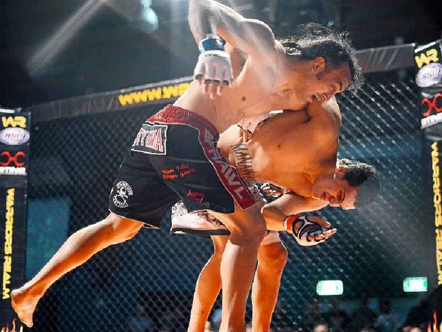Tyler Manawaroa (right) will not be offered a contract with the UFC after the discovery of a racist picture he posted on social media.