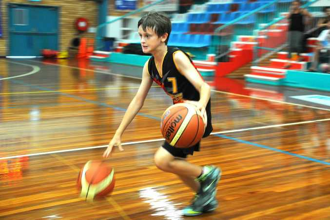 Coffs Harbour Suns basketball at there annual Season Sunrise activities held at Sportz Central. Photo: Leigh Jensen/ The Coffs Coast Advocate