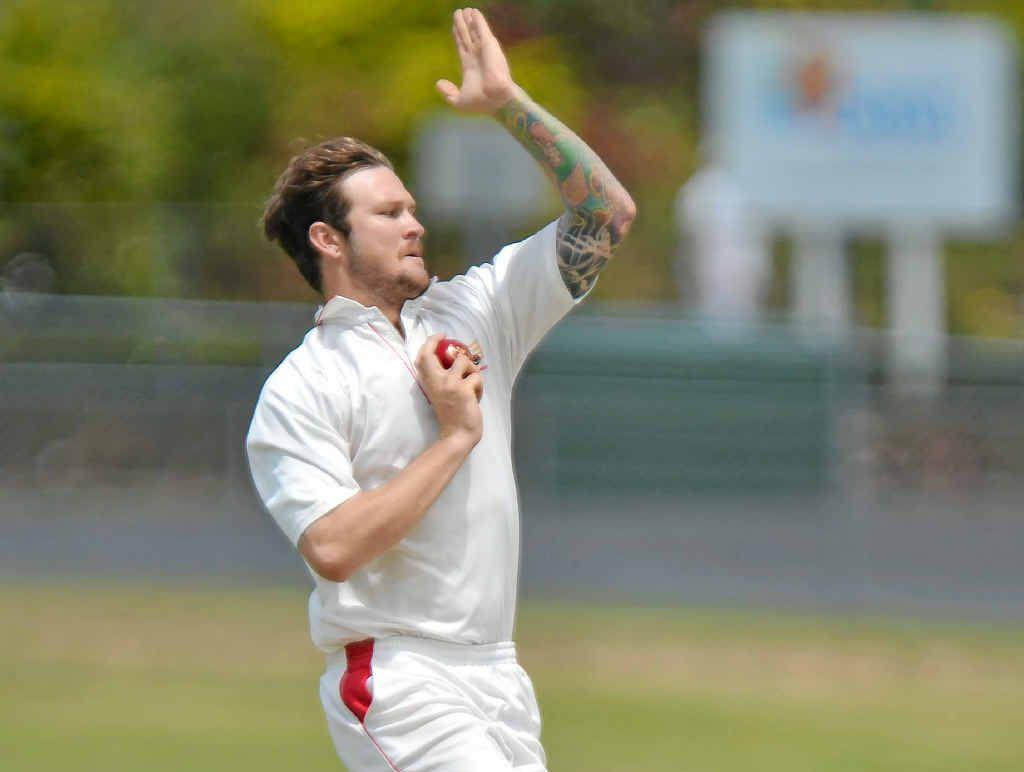 STELLAR SEASON: Sunshine Coast Scorchers allrounder Ben Smith winds up against Toombul.
