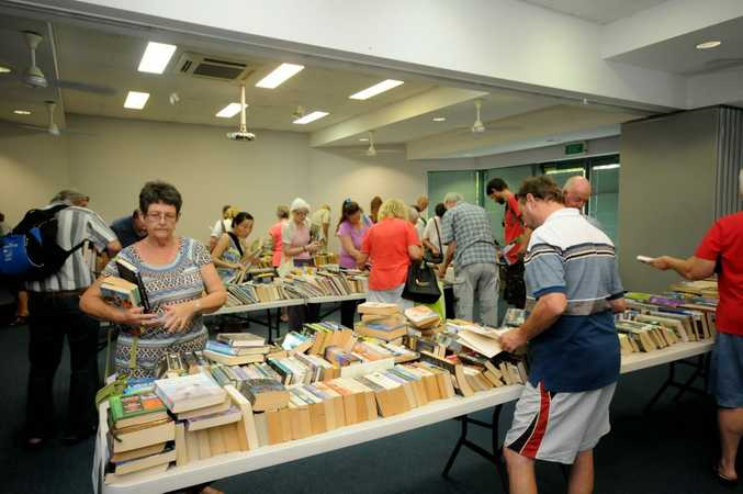 The Goonellabah Library book sale on Saturday. Photo Doug Eaton / The Northern Star