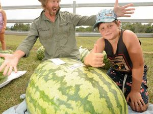Jake's mega-melon weighs as much as a full-grown man