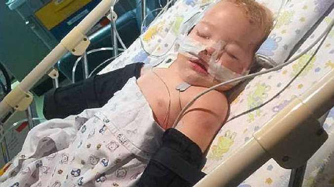 ACCIDENT: 14-month-old Hunter Bennett.