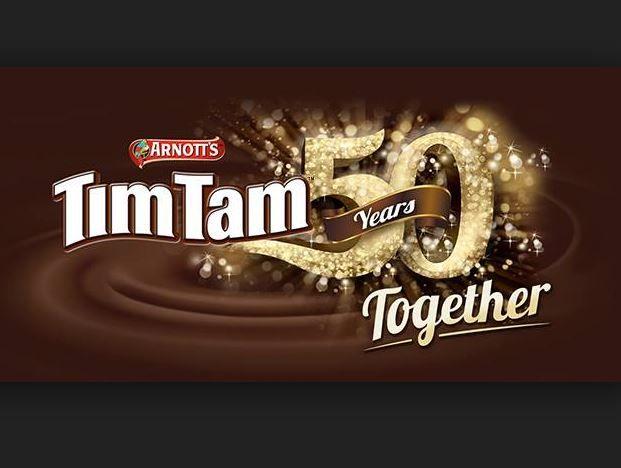 Facebook promotion celebrating 50 years of Arnotts Tim Tams.