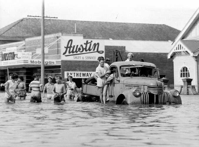 Historic: Floods: Lismore during the 1954 flood. Photo The Northern Star Archives