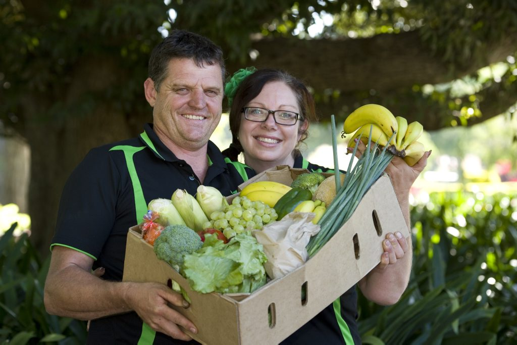 Peter and Bernadette Radnedge own and operate Farm Fresh Veg Direct, a fruit and vegetable home delivery service.