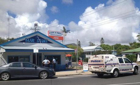 Hervey Bay police at the Blue Store on the corner of Watson St and Beach Rd in Pialba.