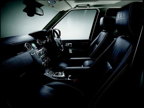 Inside the Land Rover Discovery XXV.