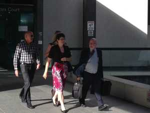Catherine Leigh Long (centre) leaving court after giving evidence at the Royal Commission into Institutional Responses to Child Sexual Abuse in Brisbane on Monday, February 17, 2014. Picture: Adam Davies