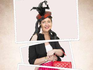 Hat designer Virginia has gone all frockabilly