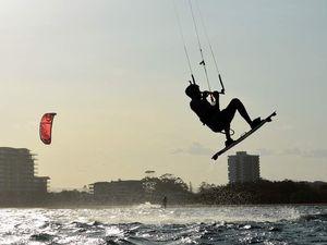 Kite surfers off Maroochydore