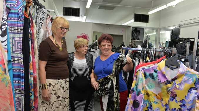 Mavis May centre, with Phillipa Windsor left and Jenny Acton find delights in Mavis' store.