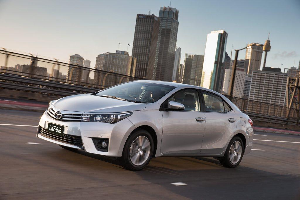 The new Toyota Corolla sedan.
