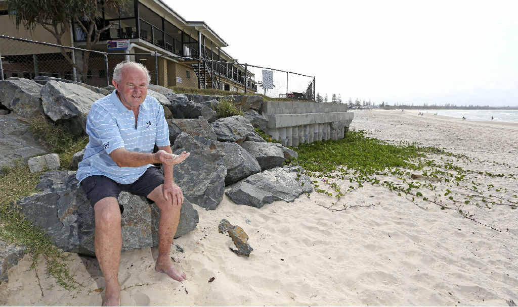 TURNING TIDES: Brian Vickery from Cudgen Surf Lifesaving Club is happy with the work that has been done to help reduce erosion at Kingscliff.