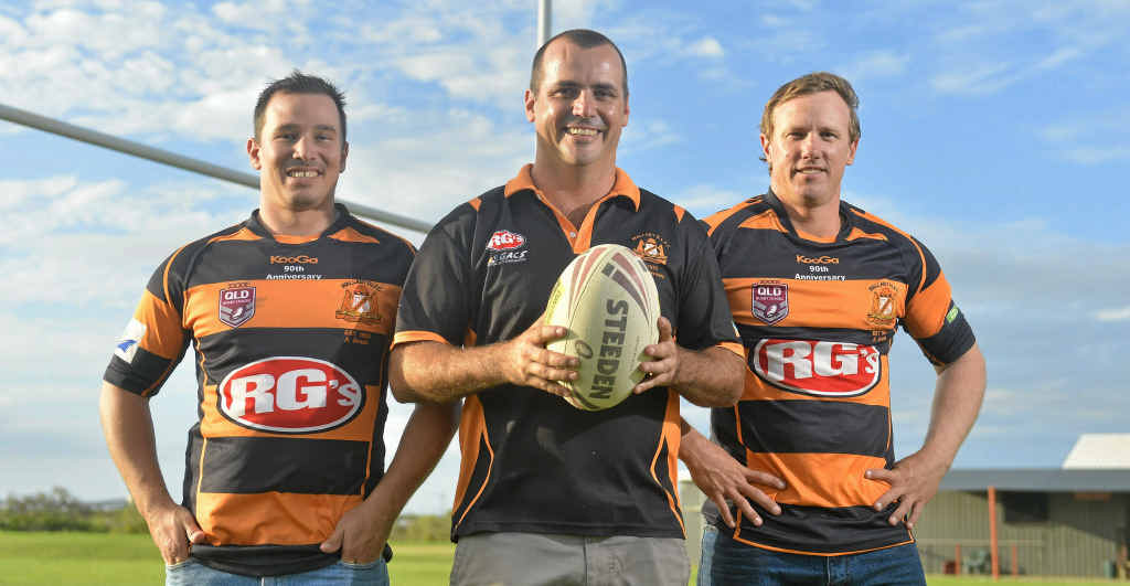 Wallabys Under-18 coaches Jayd McKenzie, Andrew Lockwood and Jamie Powell played together through their teens, and are hopeful of leading a spirited squad this season.