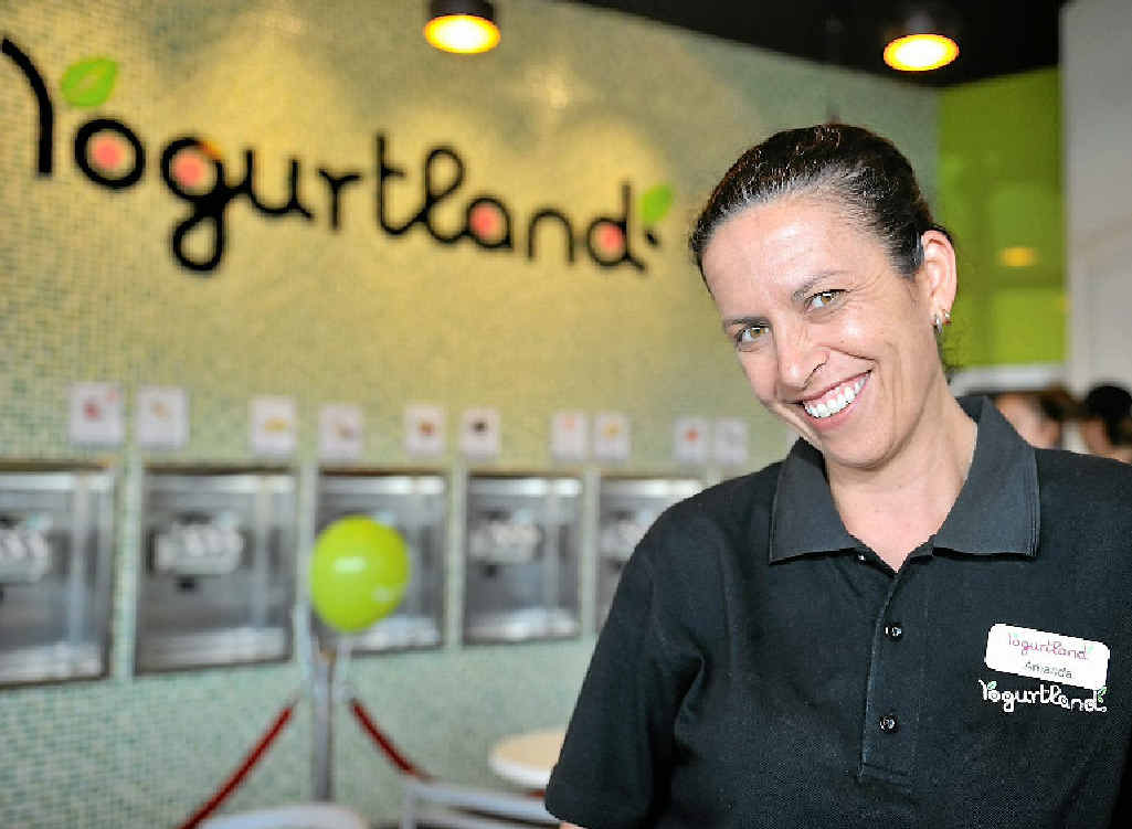 Amanda Horkings is manager of Gladstone's new Yogurtland store at Stockland.