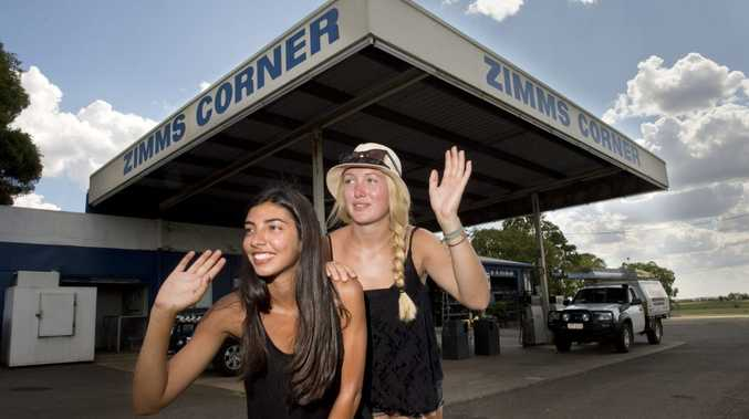 Penny Razavi and Amelie Boese and are turning heads on the Warrego Highway. Photo Nev Madsen / The Chronicle