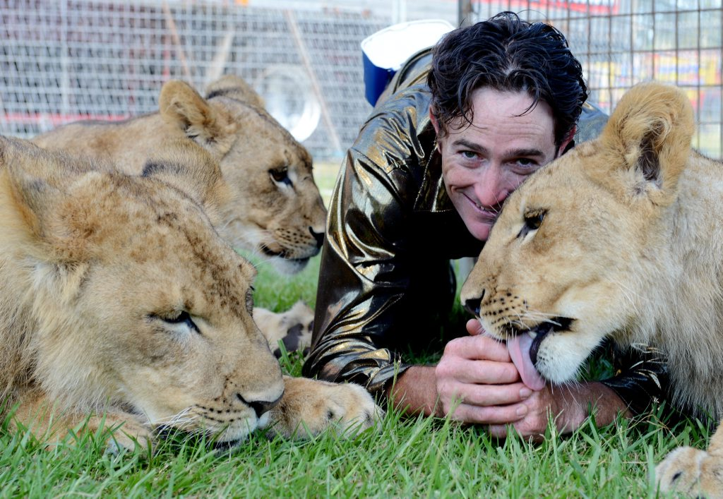Lion Trainer and Clown, Matt Ezekial from Stardust Circus. Pictured getting ready for their upcoming Lismore shows.