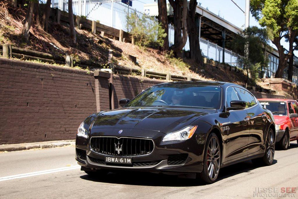 The Maserati Quattroporte GTS.