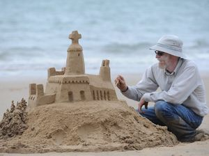 Mike Lewis is the king of the mystery sandcastles