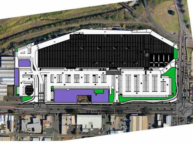 Plans for new Bunnings in Ruthven St, Toowoomba, site of former foundry. Contributed
