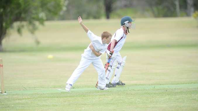 FIELDING DREAMS: Hayden Ensbey during the under-12 game between CRJCA and LCCA in Maclean on Sunday. Photo: JoJo Newby