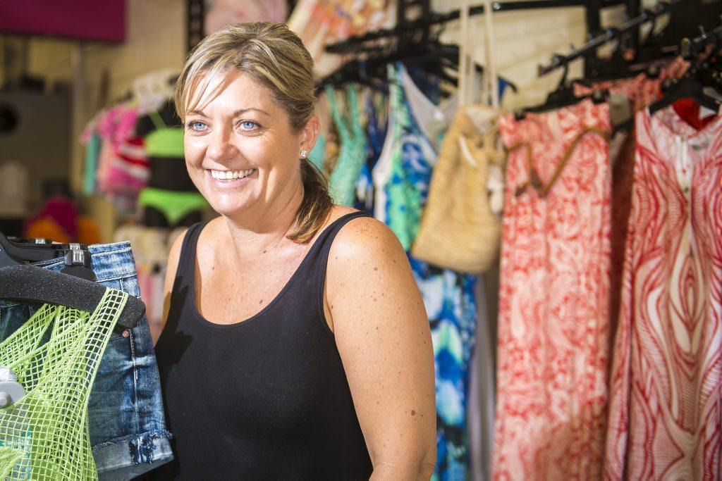 Kelly Wildman is the owner of Coastline Clothing in Tannum Sands.