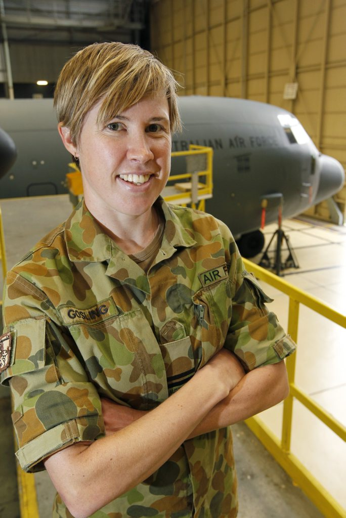 Amanda Gosling is a 12-year veteran of the Air Force, and is now an aerospace engineer – aeronautical.